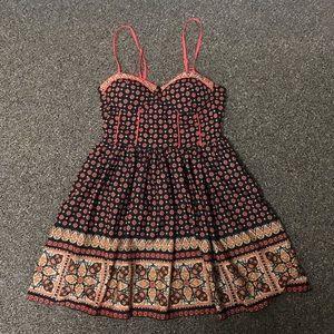 Band Of Gyspies Multi Print Mini Sun Dress